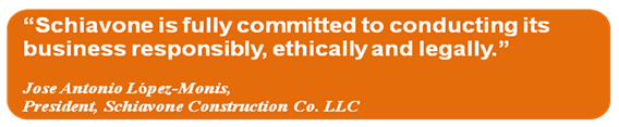 Ethics and Compliance at Schiavone Construction